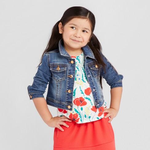 Toddler Girls Denim Jacket Genuine Kids From Oshkosh Medium