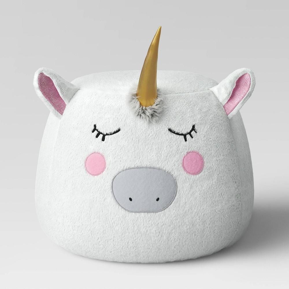 Image of Character Pouf Unicorn - Pillowfort , White