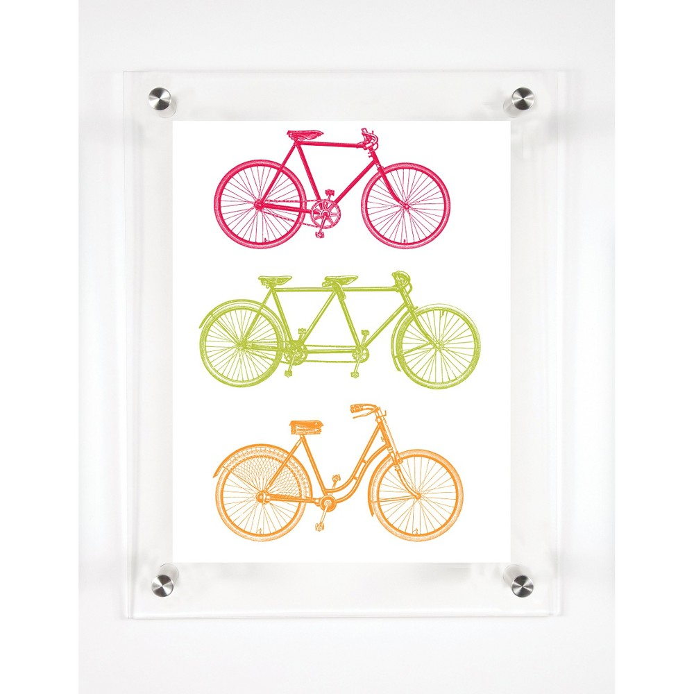 Mitchell Black Bicycle Ours Decorative Framed Wall Canvas Fruity (12