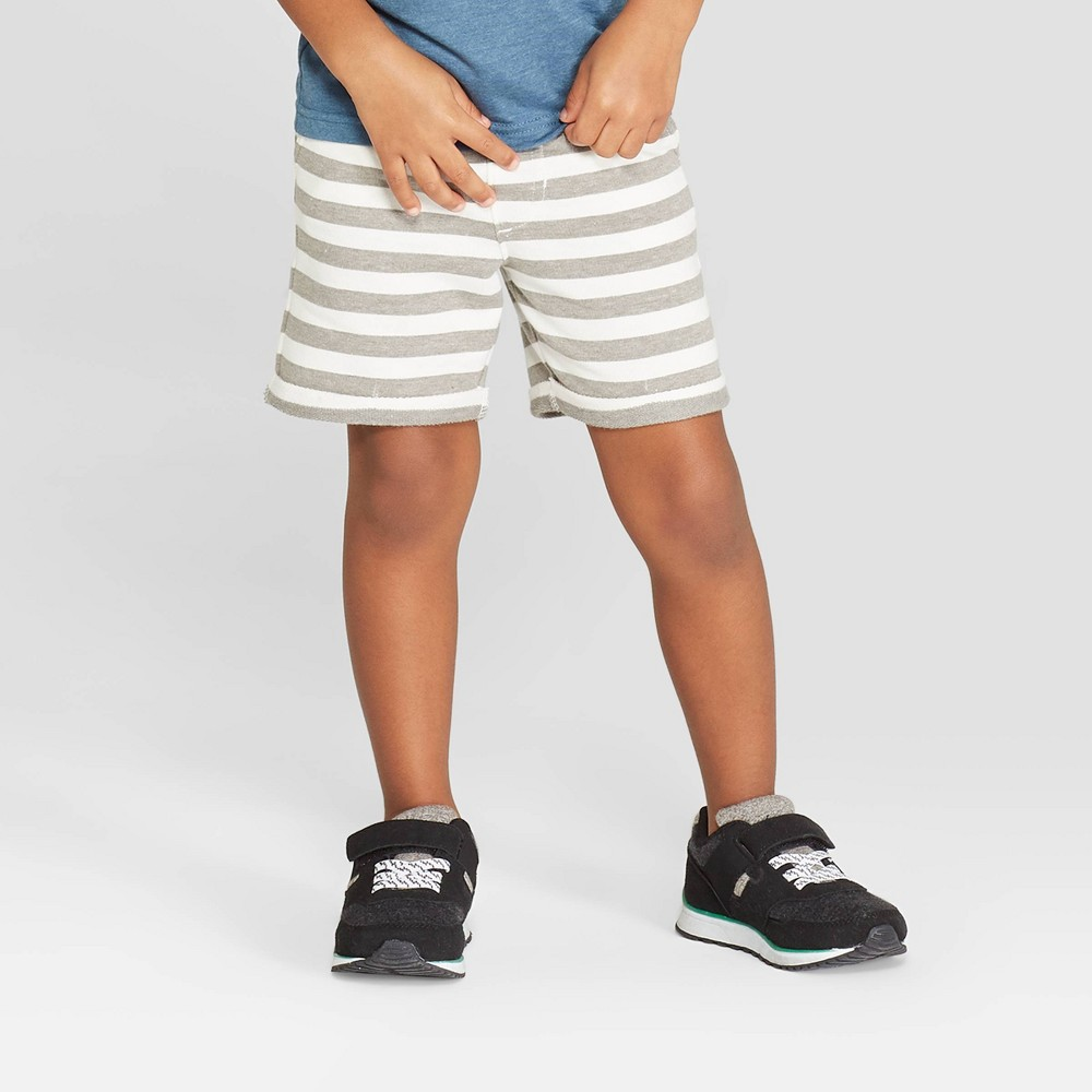 5a87d7f891 Toddler Boys Stripe Pull On Shorts Cat Jack Charcoal Grey 5T