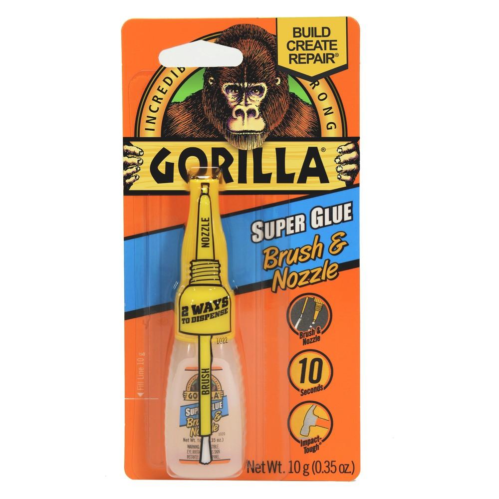 Gorilla Super Glue Brush & Nozzle 10g - Clear