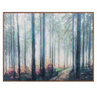 """30"""" x 40"""" Woodland Journey by Studio Arts Wrapped Framed Wall Art Canvas - Fine Art Canvas"""