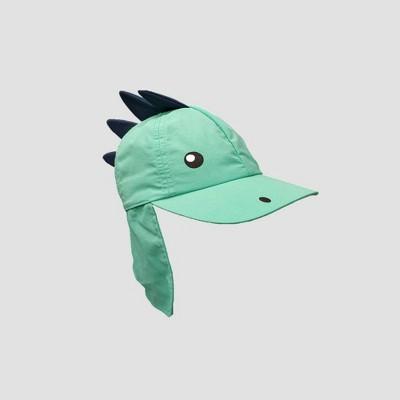 Baby Boys' Dino Back Flap Bucket Hat - Cat & Jack™ Aqua 0-6M