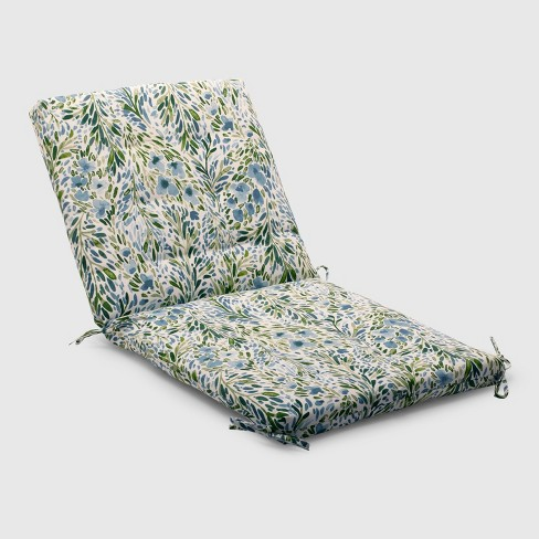 Sammamish Floral Outdoor Tufted Chair Cushion Target
