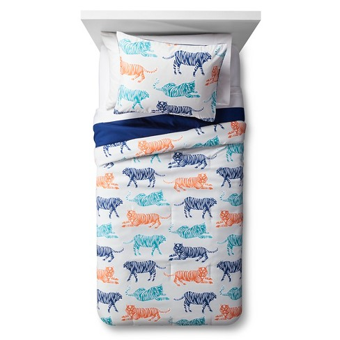 Big Cat Block Party Comforter Set - Pillowfort™ - image 1 of 2