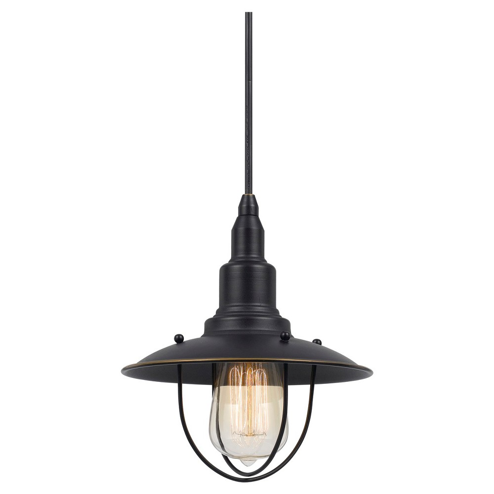 Cal Lighting Allentown Dark Bronze finish Metal Pendant Cal Lighting Allentown metal pendant in Dark Bronze finish with matching canopy. Cal Lighting makes this item in 3 finishes. (Sold separately) Gender: unisex.