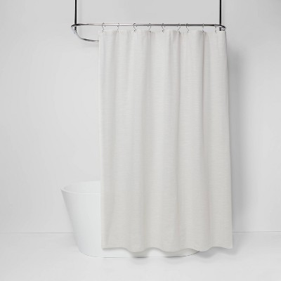 Solid Textured Shower Curtain Off-White - Threshold™