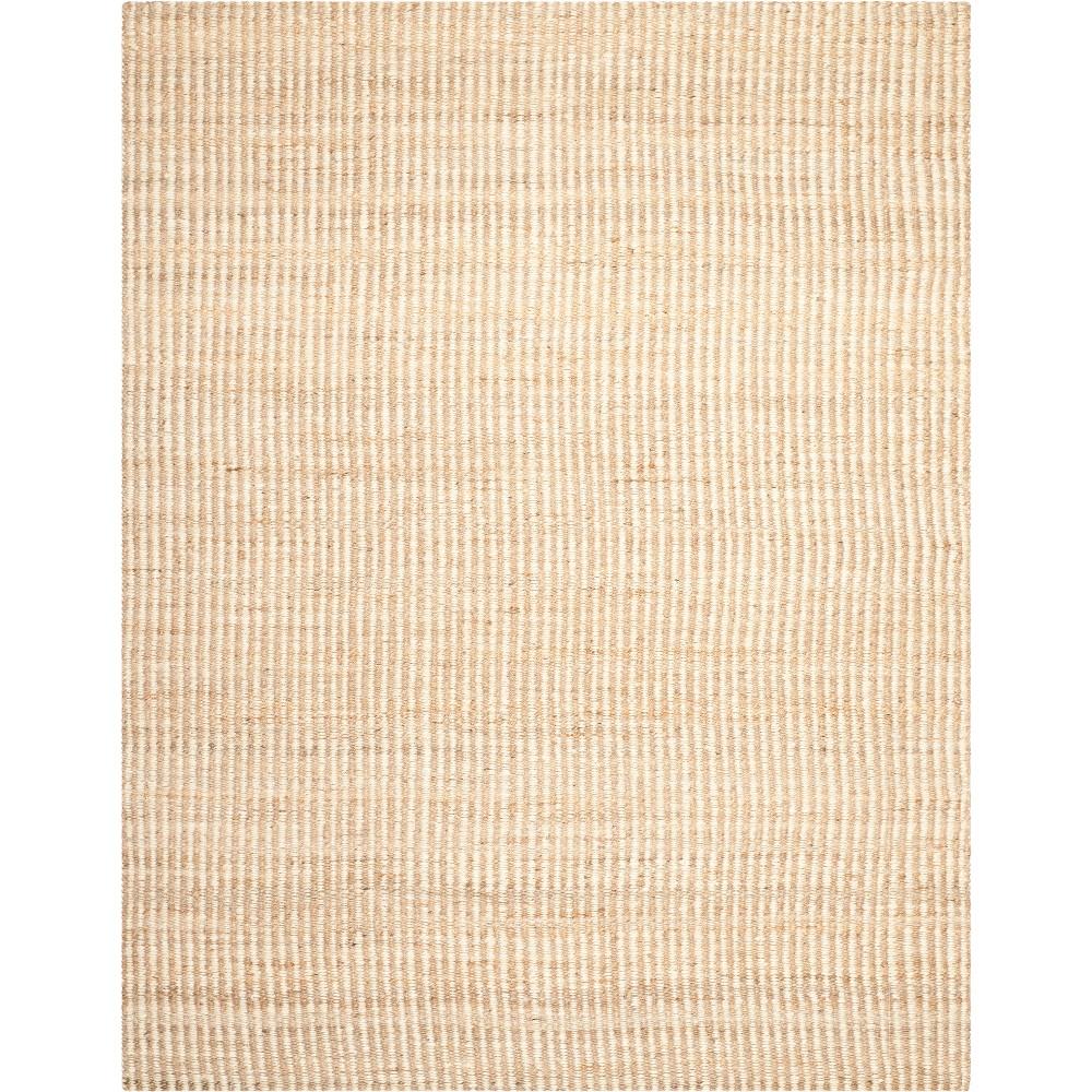 9'X12' Stripe Woven Area Rug Natural/Ivory - Safavieh, White