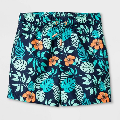 395f2e7fba Toddler Boys' Hawaiian Swim Trunks - Cat & Jack™ Navy : Target