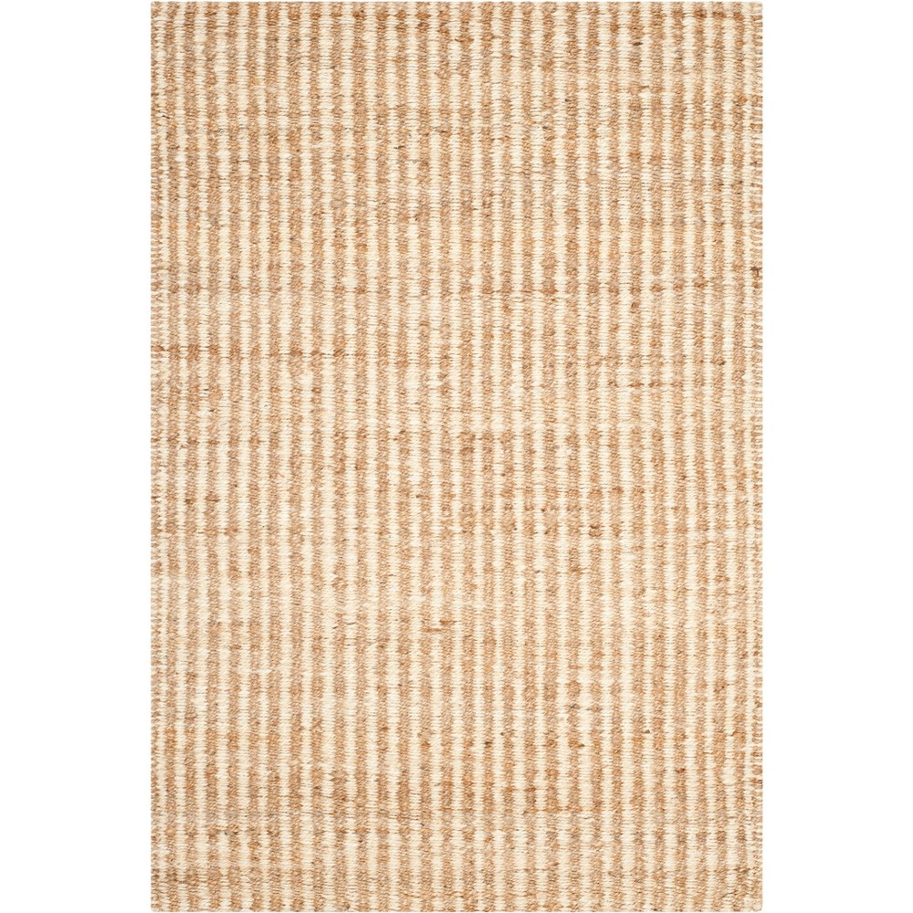 3'X5' Stripe Woven Accent Rug Natural/Ivory - Safavieh, White