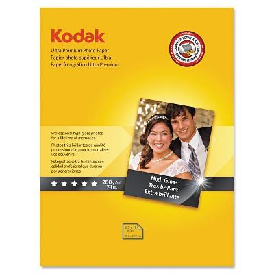 Kodak Ultra Premium Photo Paper 10 mil High-Gloss 8-1/2 x 11 25 Sheets/Pack 8366353
