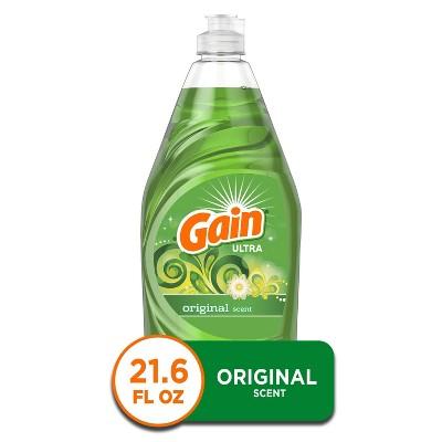 Gain Ultra Dishwashing Liquid Dish Soap - Original Scent - 21.6 fl oz