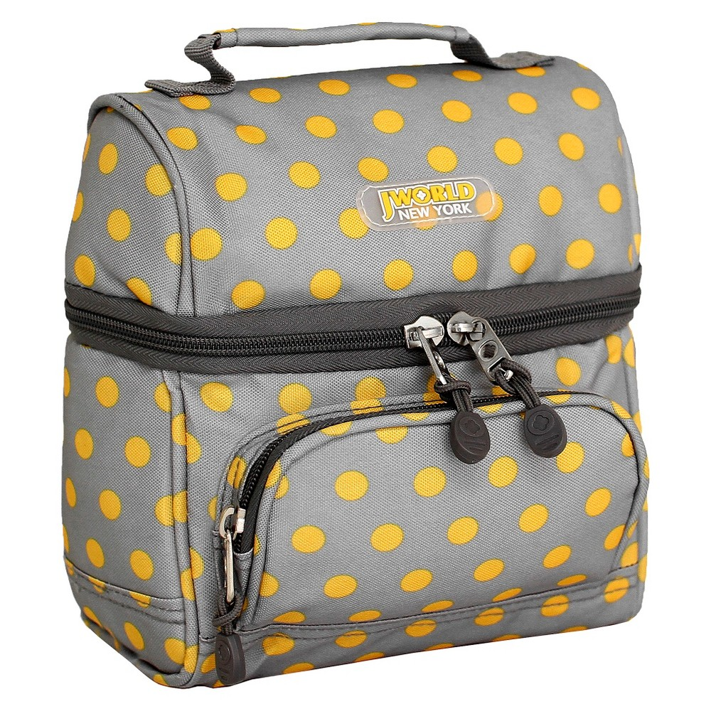 Image of J World Corey Lunch Bag with Front Pocket - Candy Buttons, Candy Button