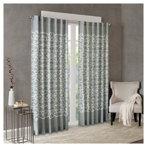 "Ellia Texture Printed Window Curtain Panel (50""x84"") - image 1 of 4"