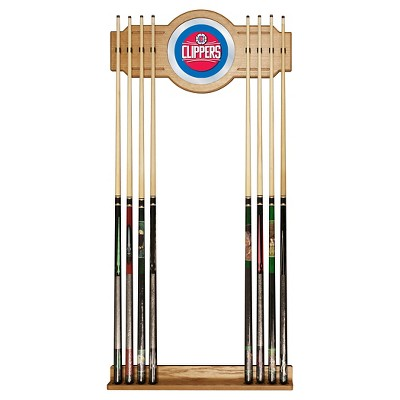 NBA Los Angeles Clippers Billiard Cue Rack with Mirror