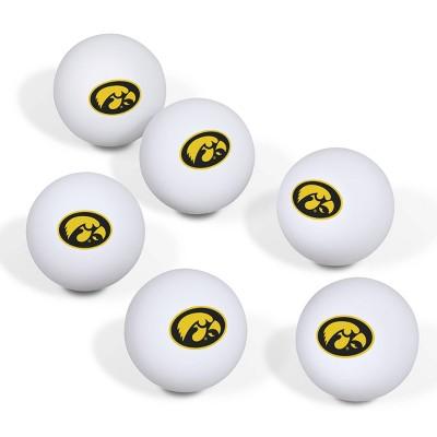 NCAA Iowa Hawkeyes Table Tennis Balls 6pk