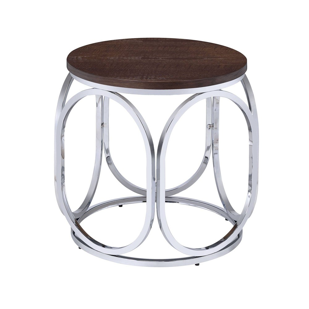 Jayme Round End Table Brown - Picket House Furnishings