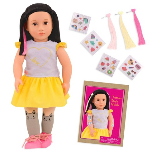 """Our Generation 18"""" Glow in the Dark Tattoo Doll - Aisha - image 1 of 4"""