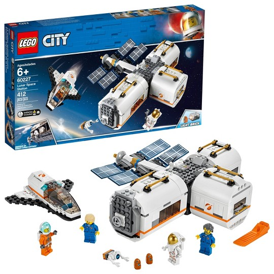 LEGO City Space Lunar Space Station 60227 Space Station Building Set with Toy Shuttle image number null