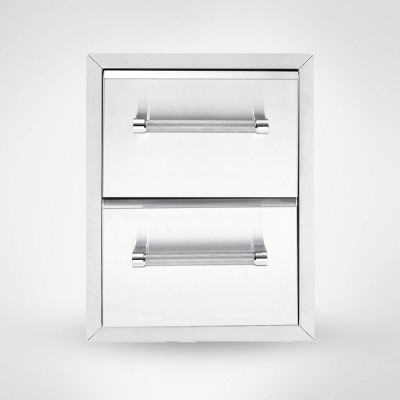 """KitchenAid 18"""" Built-In Grill Large Cabinet - Silver"""