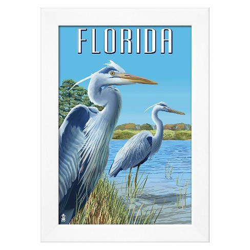 Art.com - Blue Herons in Grass - Florida - image 1 of 2