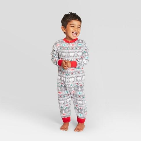 1b16147f6 Toddler Holiday Fuzzy Bear Fair Isle Pajama Union Suit - Wondershop ...