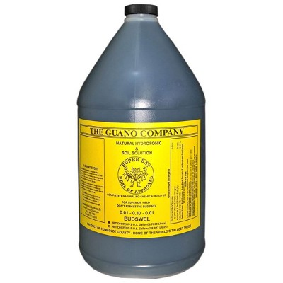 Hydrofarm GUBS128C Super Bat Budswel Organic Hydroponic Liquid Nutrient Solution for Strong Blooms in Garden Soil, Flowers and Plants, 1 Gallon