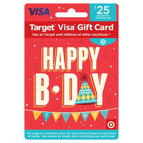 Visa Happy B-Day Gift Card - $25 + $4 Fee - image 1 of 1