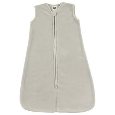 Hudson Baby Infant Plush Sleeping Bag, Sack, Blanket, Solid Light Gray Fleece
