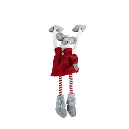"Image result for Northlight 20"" Festive Red and Gray Merry Mouse Hanging Mantle Christmas Decoration"
