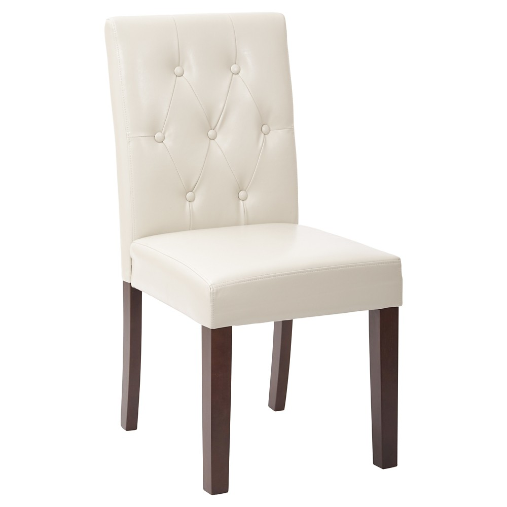 7 Button Dining Chair Cream (Ivory) - Osp Home Furnishings