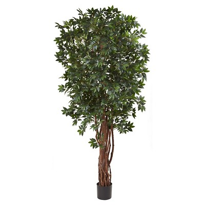 """7.5"""" Lychee Tropical Evergreen Silk Tree - Nearly Natural"""