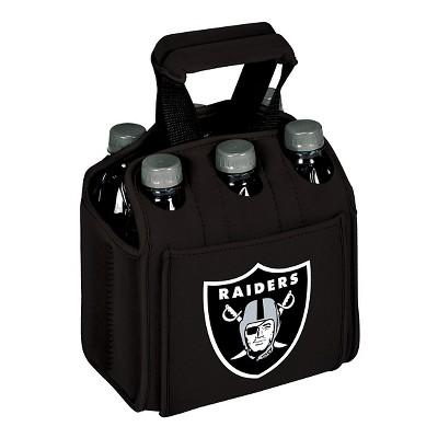 Picnic Time NFL Team Six Pack Beverage Carrier - Black