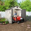 Outdoor Storage Shed 8' x 7.5' - Desert Sand - Lifetime - image 4 of 4