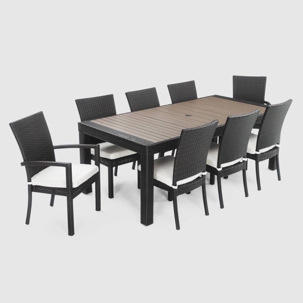 Deco 9pc Dining Set with Cushions - Cream (Ivory) - Rst Brands