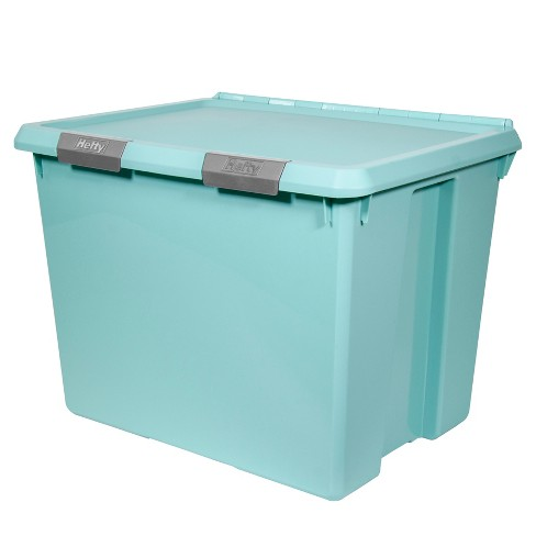Hefty Hinged Lid Storage Box Jade Opaque 70qt - image 1 of 6