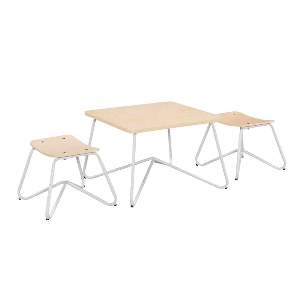 Kellan 3 Piece Table Set - White - Reservation Seating, True White