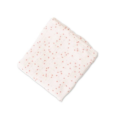 Red Rover Cotton Muslin Single Swaddle - Cherry Petals