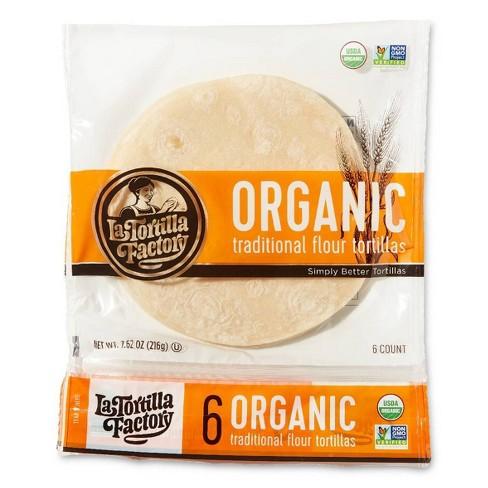 La Tortilla Factory Organic Traditional Tortillas - 7.62oz/6ct - image 1 of 3