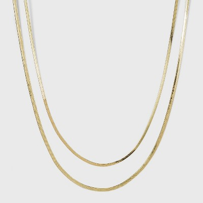 SUGARFIX by BaubleBar Layered Gold Necklace - Gold