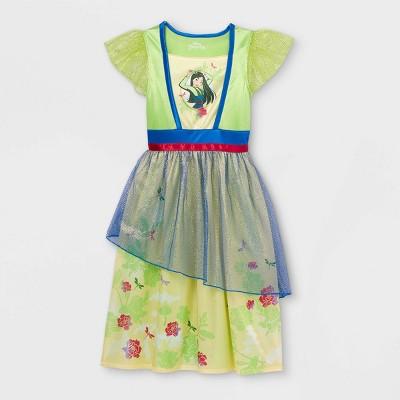 Girls' Disney Princess Mulan Nightgown - Green