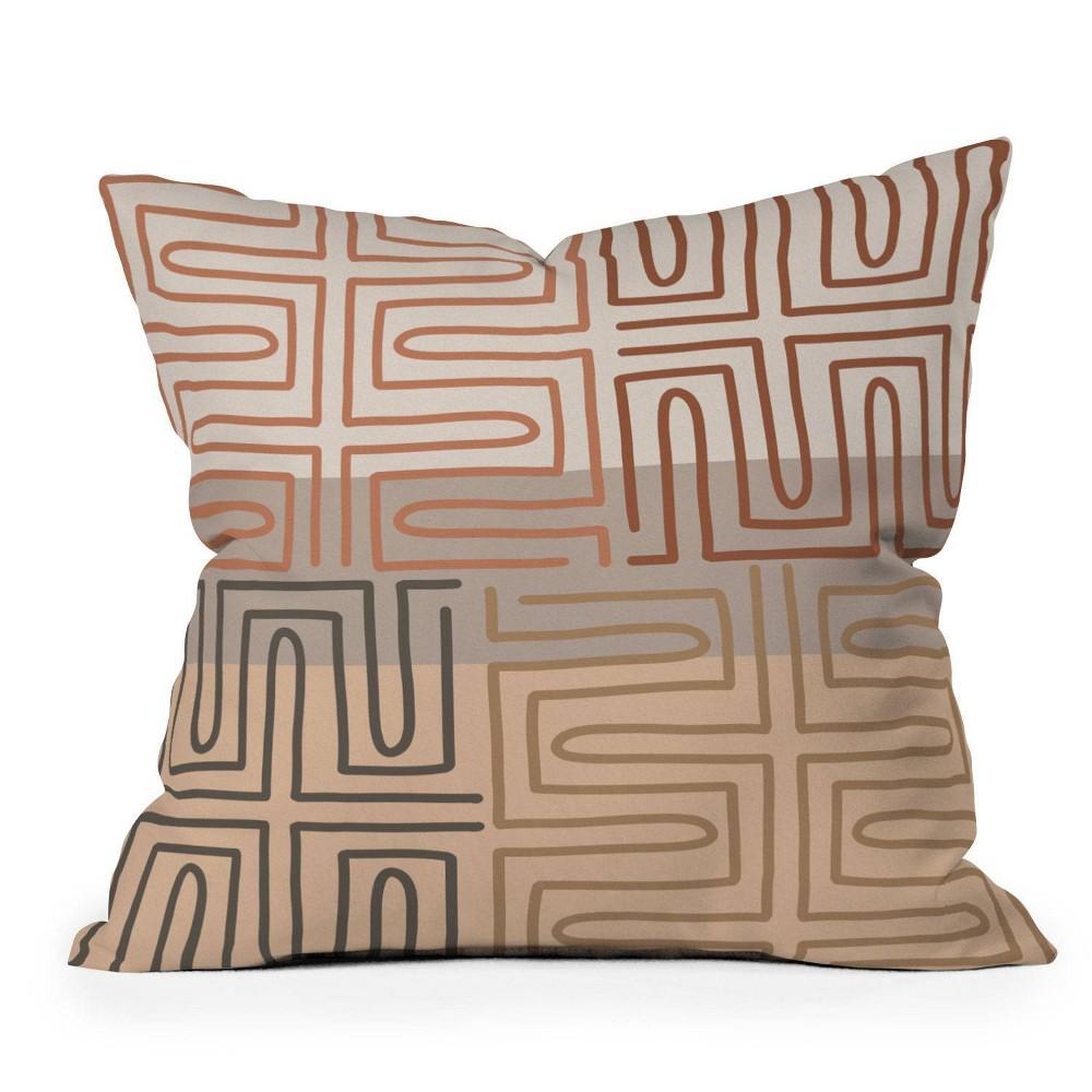 16 34 X16 34 Iveta Abolina Bouvier Square Throw Pillow Cream Deny Designs