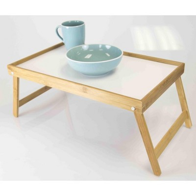 Home Basics Bed Tray with White Surface