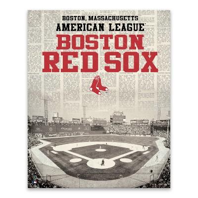 MLB Boston Red Sox Newspaper Stadium Printed Canvas Art - 22 x28 x1.25