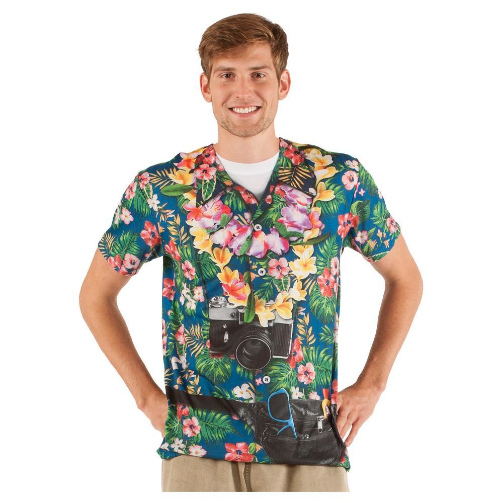 Men's Tourist Costume Shirt - Small, Multicolored