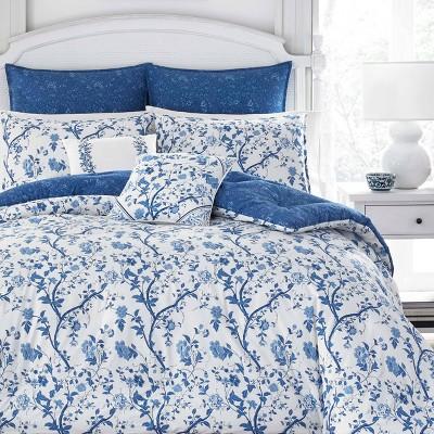 Navy Elise Comforter Set (King)- Laura Ashley