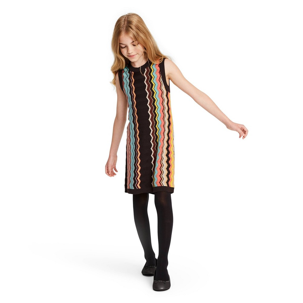 60s 70s Kids Costumes & Clothing Girls & Boys Girls Colore Zig Zag Sleeveless Crewneck Sweater Dress - Missoni for Target S Womens Size Small Pink Brown $20.00 AT vintagedancer.com