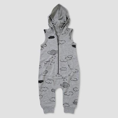 Baby Girls' Afton Street Sleeveless Hooded Romper - Heather Dusk 6-9M