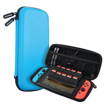 Insten Carry Case for Nintendo Switch - Portable Hard Shell Travel Pouch for Console & Accessories, Pink