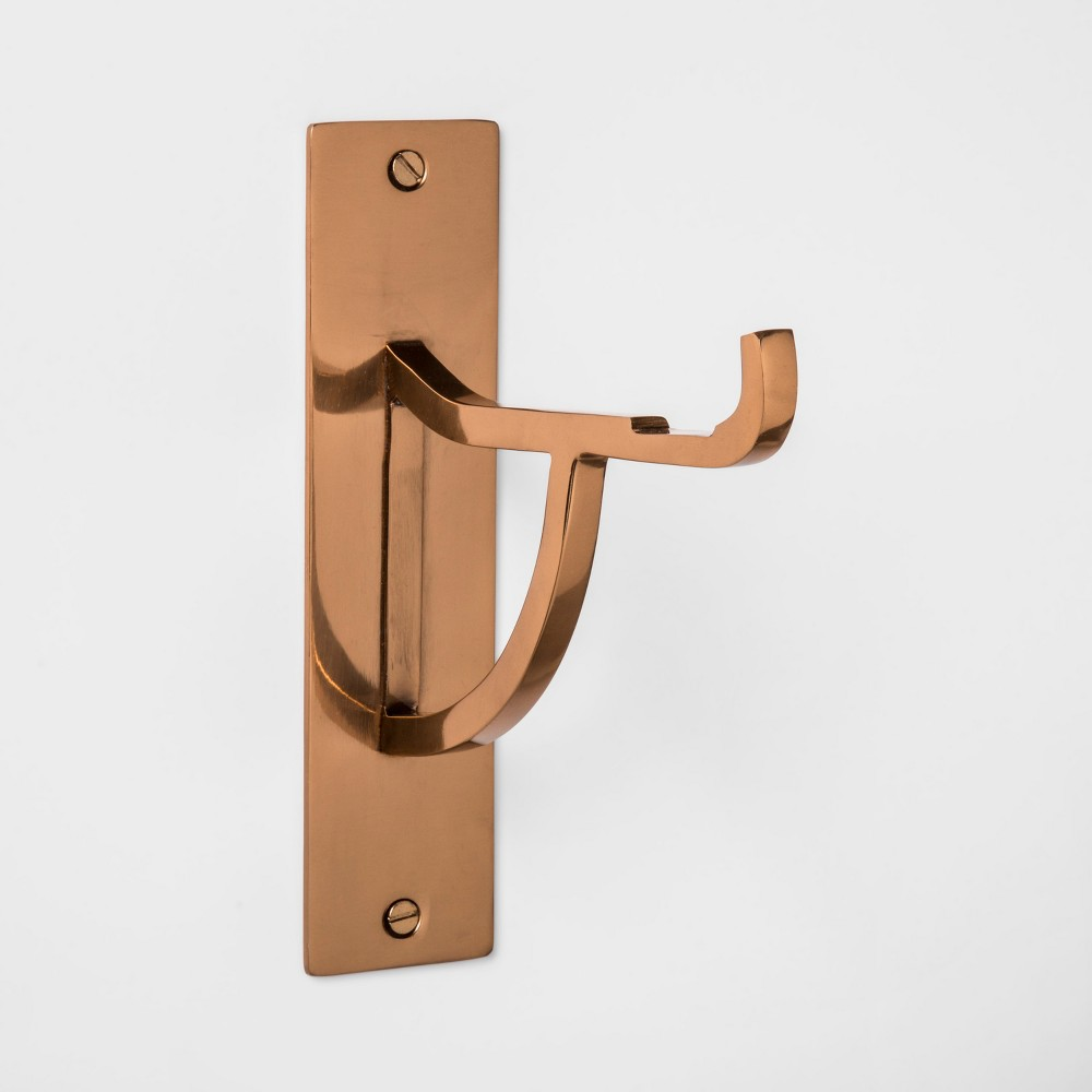 "Image of ""6.5"""" x 2"""" Decorative Steel Wall Hook Copper - Smith & Hawken , Brown"""